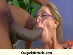 Interracial cougar hard sex 9