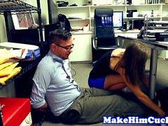 Cuckolding beauty punishes her cheating bf