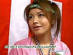 Yuzuru Японские невинным китайцы красотка говорить о сексе