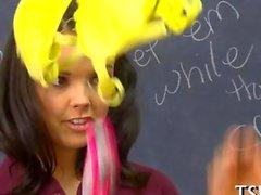 Cute teen gets bonked by her teacher