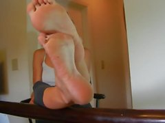Soles tease with high arches