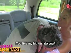 FemaleFaketaxi Drivers big tits get covered in cum