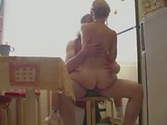 Couple Fucking In The Kitchen