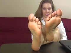 Secretary sexy feet
