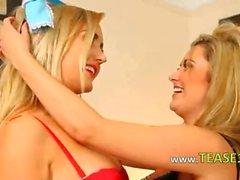 Two lesb secretaries teasing
