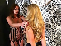 Lesbian mistress and pet