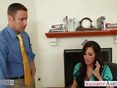Miel gainées de Kortney Kane se fait défoncer au bureau de