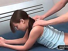 Teenage sex siren Ivana sucking her BFs hard pecker