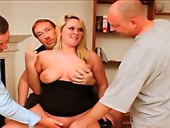 Chubby Blonde Group Fucked at Dirty D's