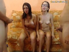 hot orgy on webcam lucky big natuals teen is pleased