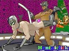 Lihaksikas maski hentai gay hardcore