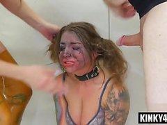 Hot pornstar bdsm domination and cumshot