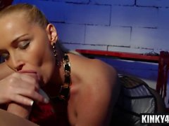 Hot mistress domination with swallow