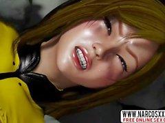 Аниме 3D Hentai Женский экипаж космического рабского боевого корабля Amado_004