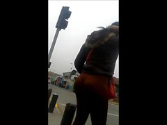 Nice Ass Waits For A Taxi