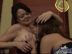 Raunchy lesbian session with two saucy fillies