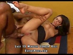 Sexy Latina ass fucking black cock right now