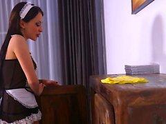 European maid rides bbc