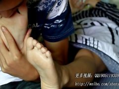 Chinese Foot Kissing/Toe Sucking