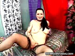 Sensual BBW Fucked With Stockings On