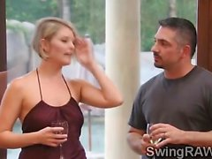 Couple get in reality to have an orgy with a hot swingers