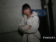 Hot Czech brunette banged pov in basement