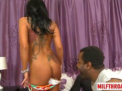 Latin milf cuckold with cumshot