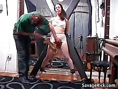 Kinky brunette hoe Brianna gets her tiny part1