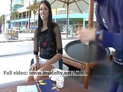 Suri _ Amateur brunette playing with her pussy in public