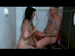 Goth couple sextape