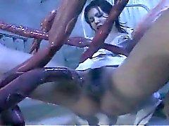 Freaky tentacoli Gang Bang Giovani e eccitati infermiera asiatica