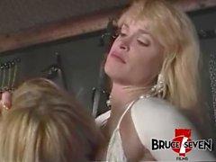 Incredible babe Porsche Lynn in lesbian teasing foursome