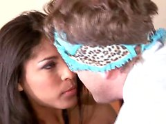 Hairy Latina gets on top of a hard dick and indulges in strong orgasms
