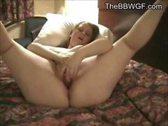 Horny Fat BBW Ex Girlfriend masturbating in a Hotel Room