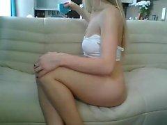 Blond Amatör Babe Flickvän Blowjob