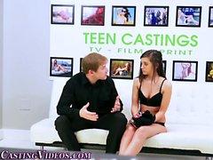 Casting teen throat fucks