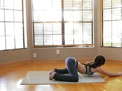 A yoga session turns into raunchy masturbation when