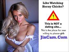 Petite brunette girl in webcam chat sex room