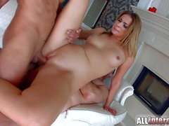 Cute blondie Ani Black Fox on All Internal gets double