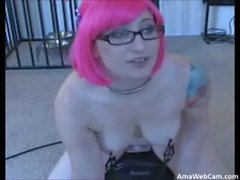 sophia locke cleans her sybian with her tongue on cam - sexchat