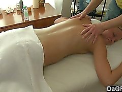 Begin with a smooth massage and finish with rough sex