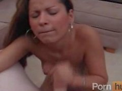 Latina chick fucked and facialised