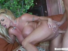 Horny Blonde Mom Holly Halston Fucks A Young