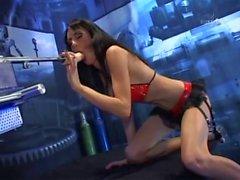 Celia Jones - solo - hard fucked by a sexmachine
