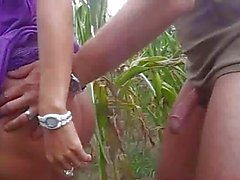 Busty amateur girlfriend outdoor fuck with cumshot