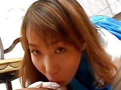 Hirai swallows after handjob scene