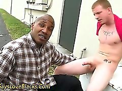 Interracial suck and fuck