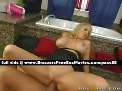 Stunning mature blonde wife in the bathroom