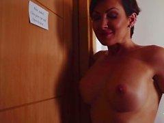 XXXShades - Hot European babe with big tits enjoys sensual fuck in bathroom