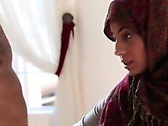 Sexy Arab teen babe Nadia Ali fucked hard by black cock